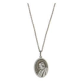 Collier Saint Jean-Paul II argent 925 rhodié s1