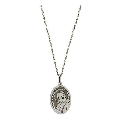 Collier Saint Jean-Paul II argent 925 rhodié 1