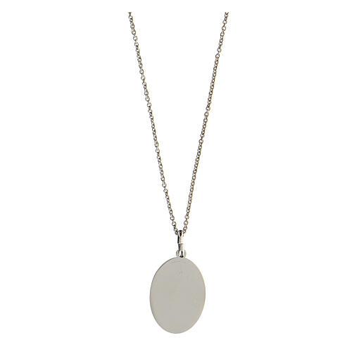 Collar Virgen Lourdes plata 925 inciso 2