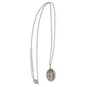 Collana Madonna Lourdes argento 925 incisa s3