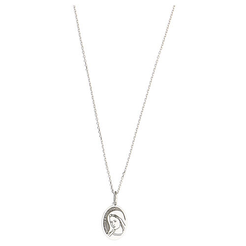 Collier Notre-Dame de Medjugorje argent 925 rhodié 1