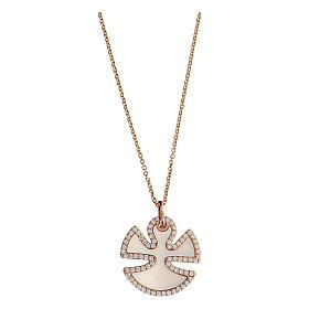 Collana angelo argento 925 madreperla zirconi s1