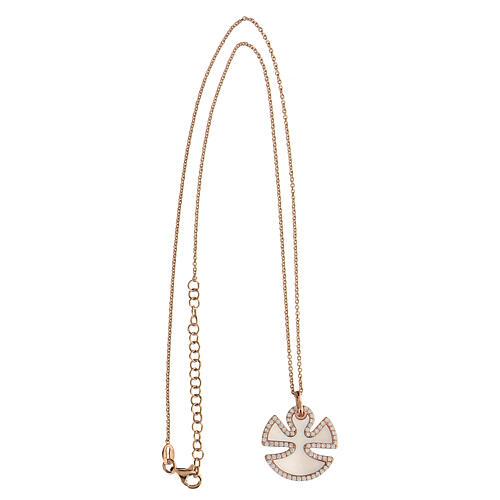 Collana angelo argento 925 madreperla zirconi 3