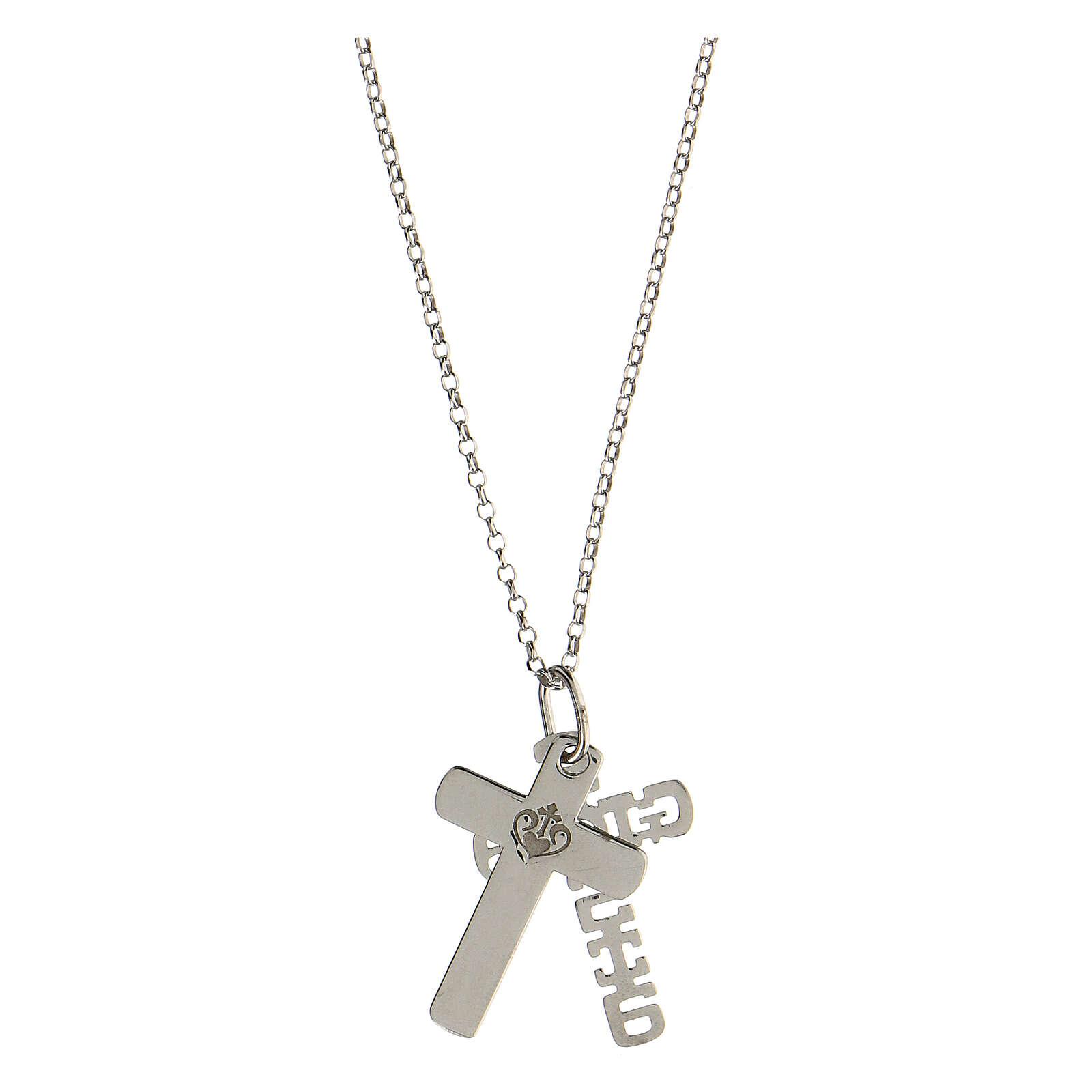 Pendentif E Gioia Sia double croix argent 925 4