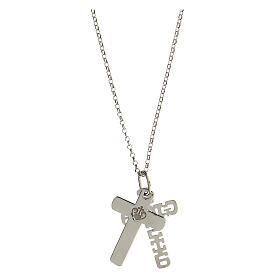 Pendente E Gioia Sia doppia croce argento 925 s4