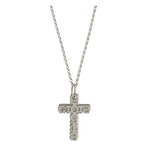 Pendente E Gioia Sia doppia croce argento 925 1