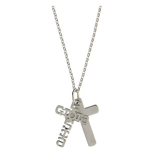 Pendente E Gioia Sia doppia croce argento 925 2