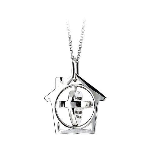 Pendente La Mia Casa è il Mondo argento 925 2