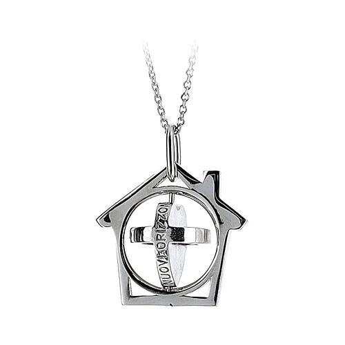 Pendente La Mia Casa è il Mondo argento 925 3