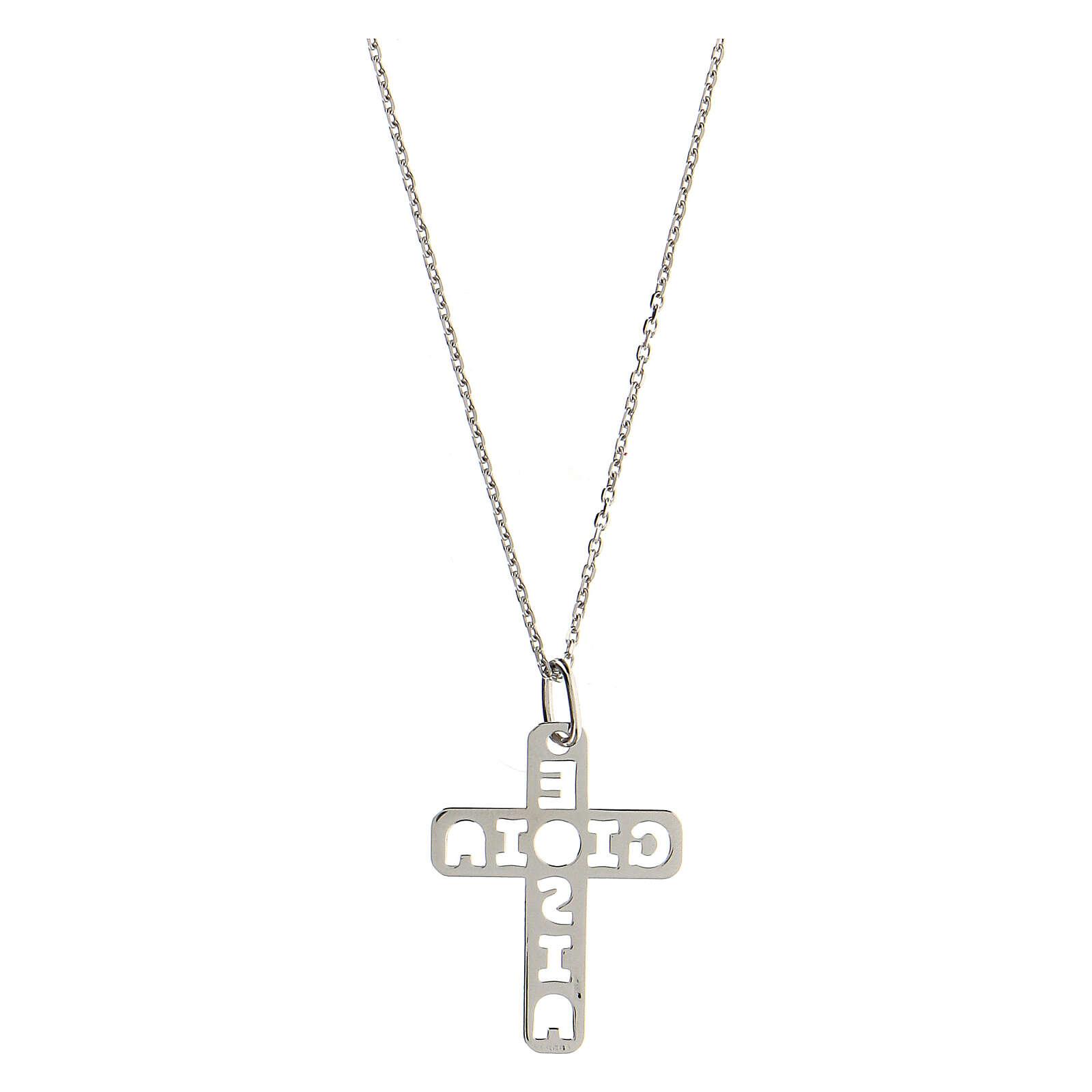 Pendentif croix E Gioia Sia argent 925 grande 4