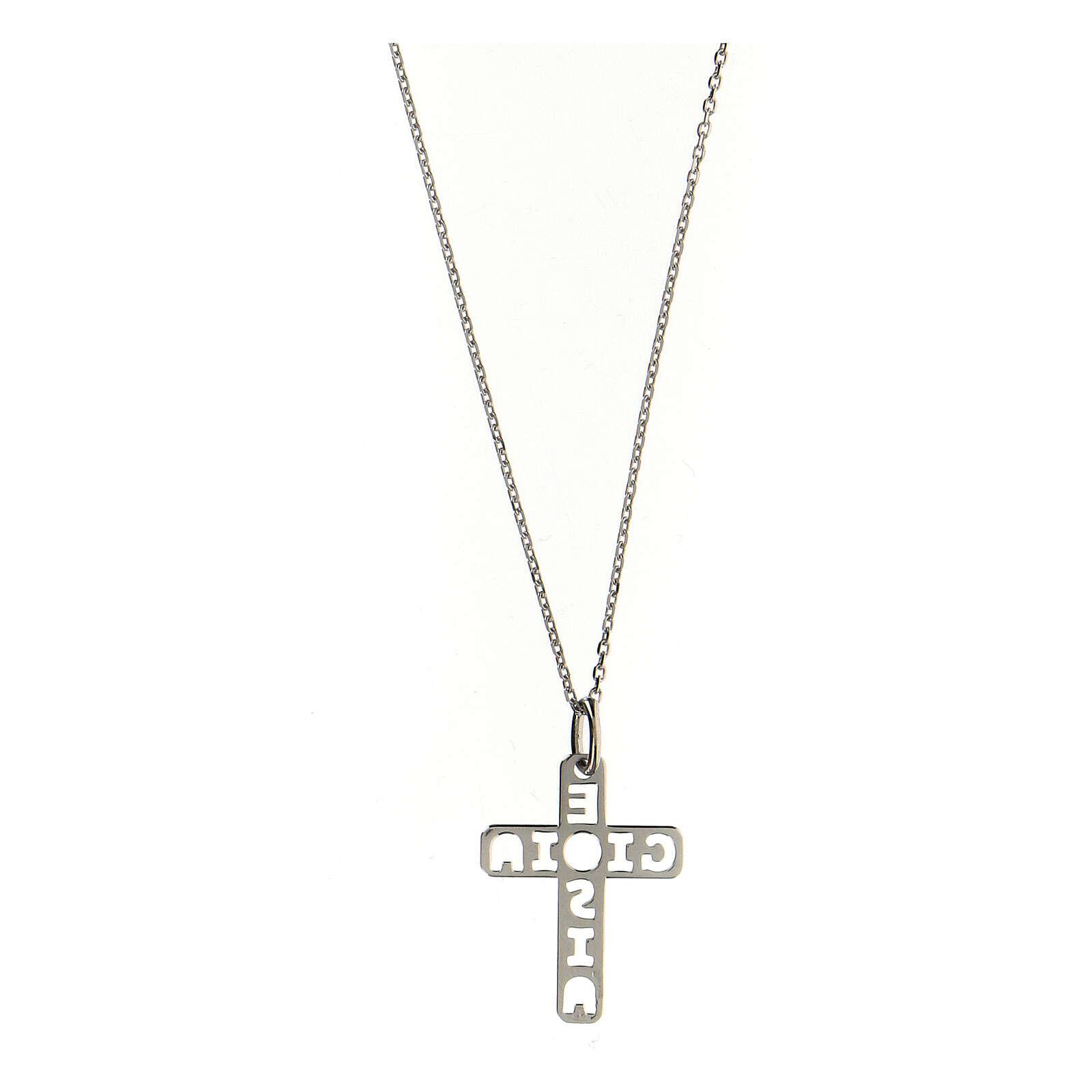 Colgante E Gioia Sia cruz plata 925 4