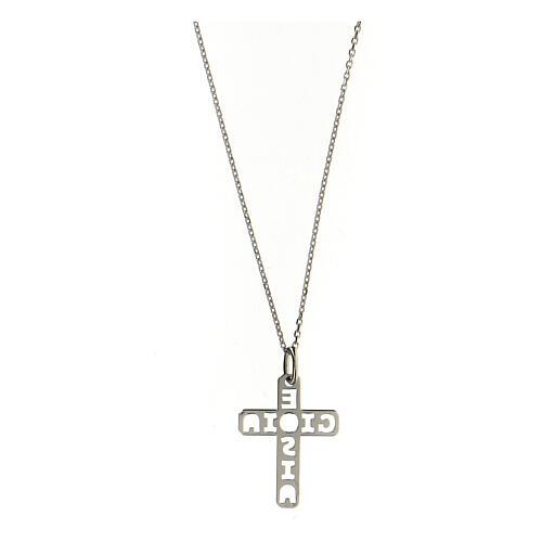 Colgante E Gioia Sia cruz plata 925 2