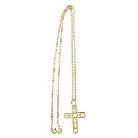 Pendente croce dorata E Gioia Sia argento 925 grande s3