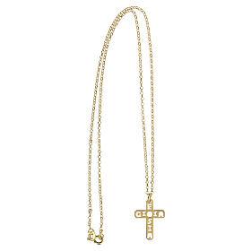 Pendentif croix E Gioia Sia argent 925 doré s3