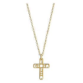Pendente croce E Gioia Sia argento 925 dorato s1
