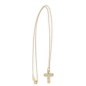 Croix dorée argent 925 E Gioia Sia fond ajouré s3