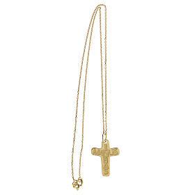 Croix argent 925 doré In Manus Tuas relief s3