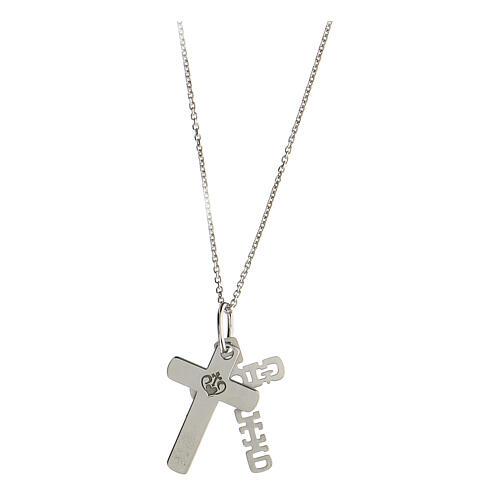 Colgante E Gioia Sia doble cruz plata 925 4