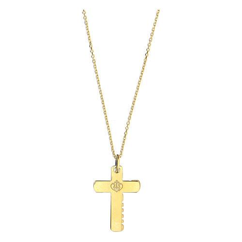 Double croix E Gioia Sia argent 925 doré 3