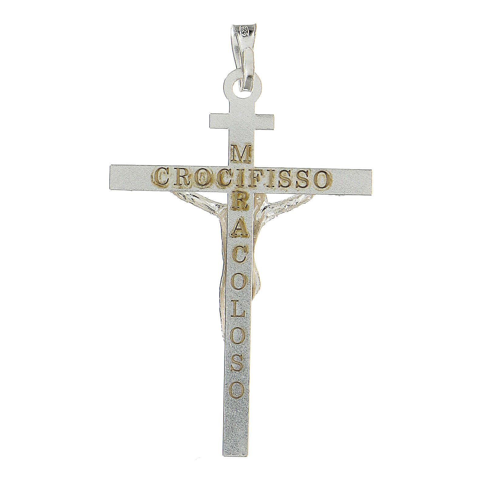 Pendentif Crucifix 4x3 cm argent 925 2,25 gr 4