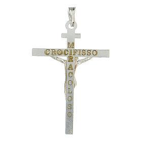 Pendentif Crucifix 4x3 cm argent 925 2,25 gr s3