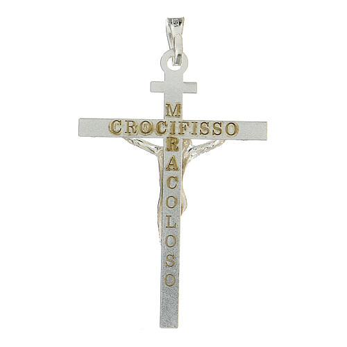 Pendentif Crucifix 4x3 cm argent 925 2,25 gr 3