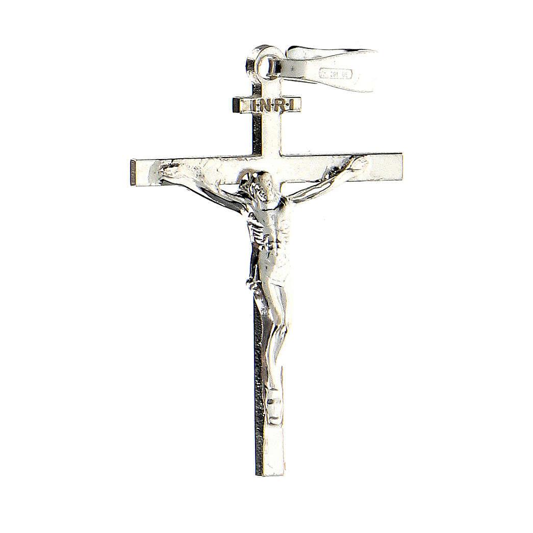 Colgante cruz plata 925 Crucifijo Milagroso 2,6x2 cm 4