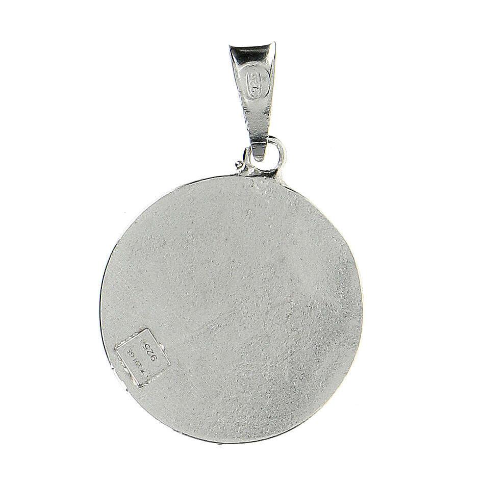 Pendente tondo Cavalieri Santo Sepolcro croce Gerusalemme argento 925 smalto rosso 4