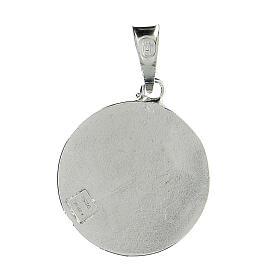 Pendente tondo Cavalieri Santo Sepolcro croce Gerusalemme argento 925 smalto rosso s2