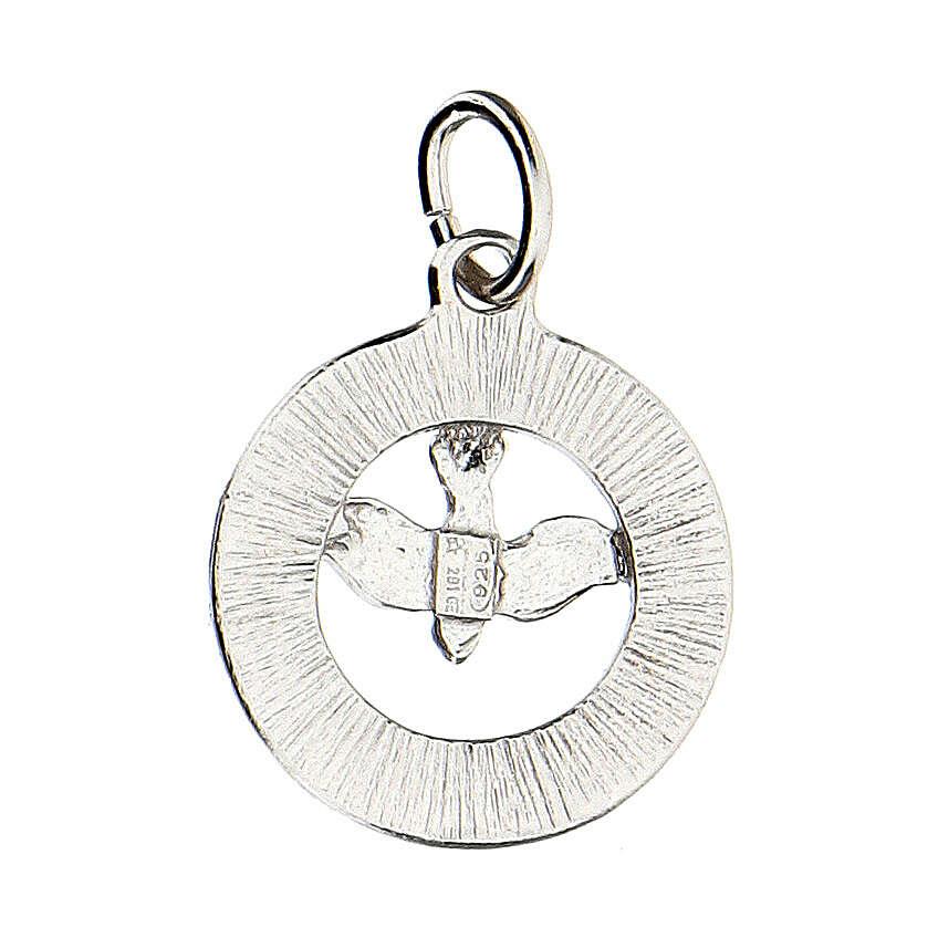 Colgante paloma Espíritu Santo plata 925 Swarovski blancos 4