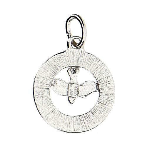 Colgante paloma Espíritu Santo plata 925 Swarovski blancos 3