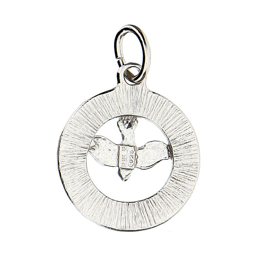 Pendente colomba Spirito Santo argento 925 Swarovski bianchi 4
