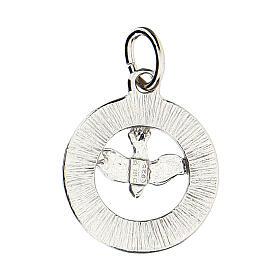 Pendente colomba Spirito Santo argento 925 Swarovski bianchi s3