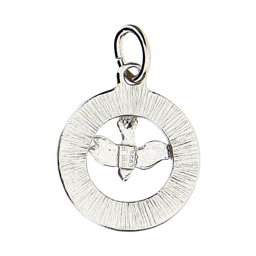 Pendente colomba Spirito Santo argento 925 Swarovski bianchi 3