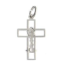Cruz latina perforada cáliz plata 925 s2