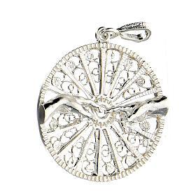 Pendente filigrana argento 925 circolare mani creazione Adamo s2
