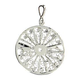Pendente filigrana argento 925 circolare mani creazione Adamo s3