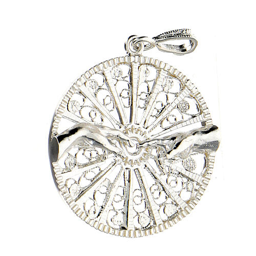 Pendente filigrana argento 925 circolare mani creazione Adamo 2