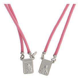 Scapolare sagola rosa argento 925 medagliette s2