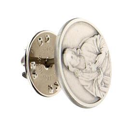 Broche Sagrado Corazón Jesús plata 925 s2