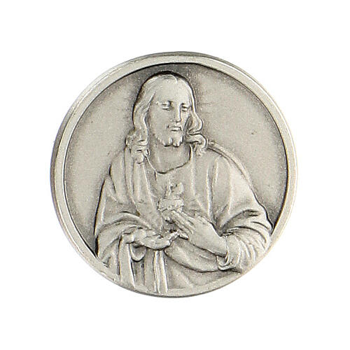 Broche Sagrado Corazón Jesús plata 925 1