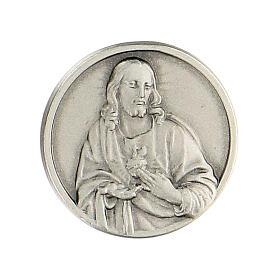 Broche Sacré-Coeur de Jésus argent 925 s1