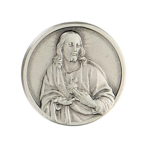 Spilla Sacro Cuore Gesù argento 925 1