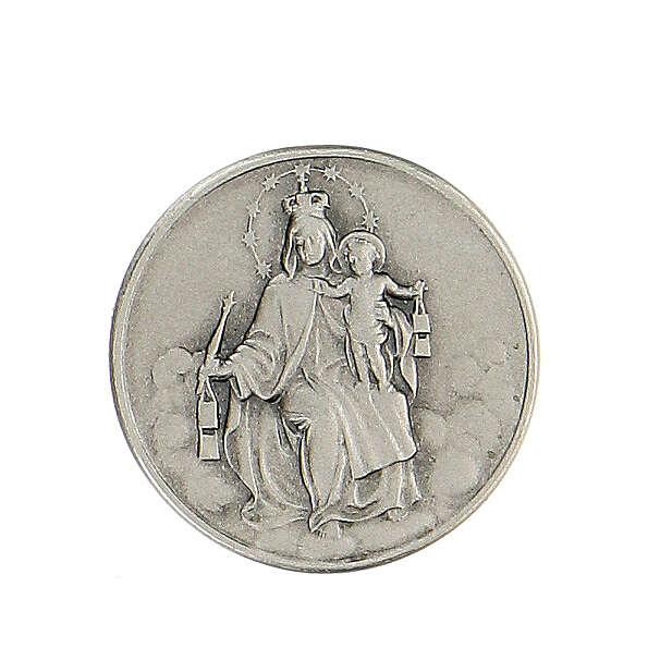 Spilla Madonna Carmine argento 925 4