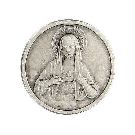 Broche Sagrado Corazón María plata 925 4