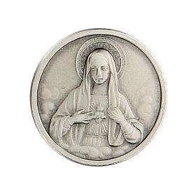 Broche Sagrado Corazón María plata 925 s1