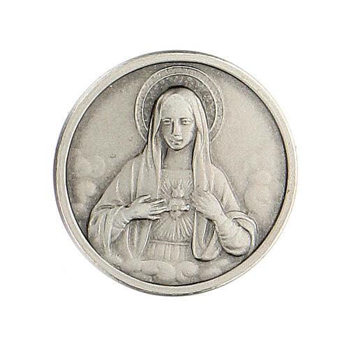 Broche Sagrado Corazón María plata 925 1