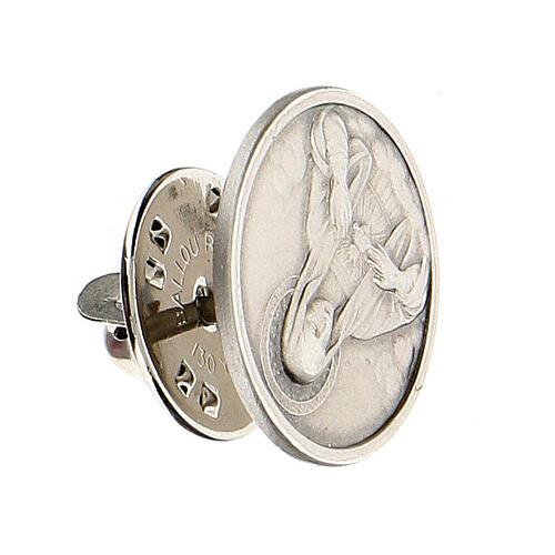 Broche Sagrado Corazón María plata 925 2