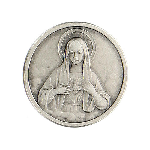 Spilla Sacro Cuore Maria argento 925 1