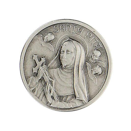 Spilla Santa Rita argento 925 4